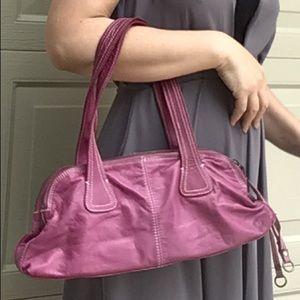 LATICO orchid leather handbag shoulder bag (J6)